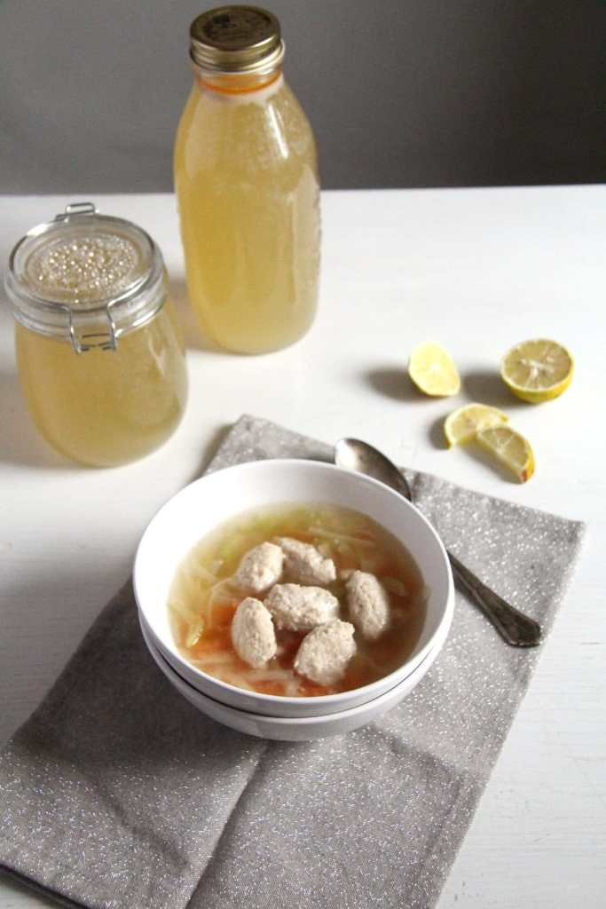 fish stock salmon 683x1024 How to Make Fish Stock and Fish Soup with Salmon Balls