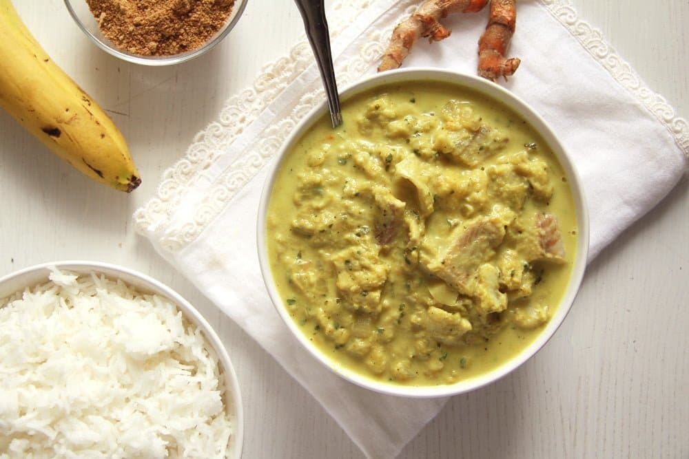 fish curry rhubarb Sweet and Sour Rhubarb Fish Curry with Bananas and Turmeric