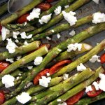 Roasted Asparagus and Tomatoes with Feta