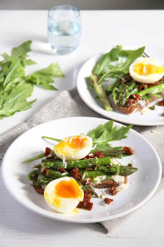 asparagus sandwich 683x1024 Asparagus Soft Boiled Egg Toast with Parmesan and Capers