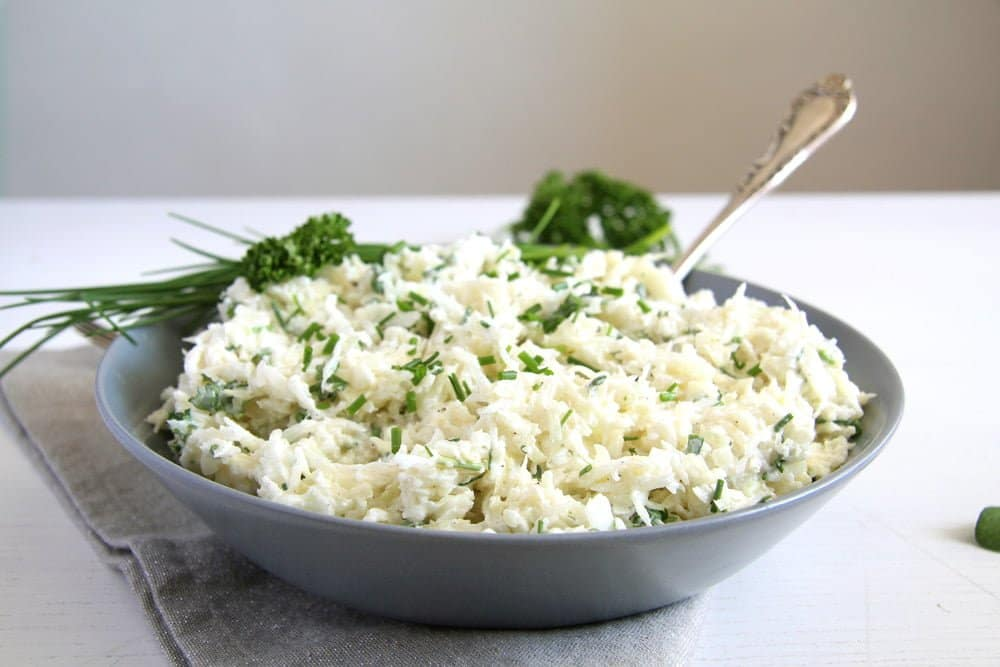 german coleslaw German Cabbage Salad with Creme Fraiche and Herbs