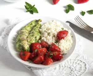 %name strawberry chicken herbs