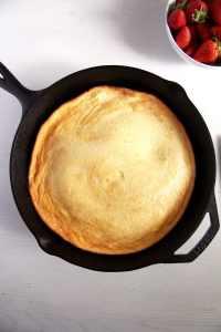 %name strawberry skillet pancake