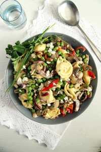 %name tortellini salad mushrooms