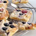 %name Puff Pastry Parcels with Berries and Marzipan