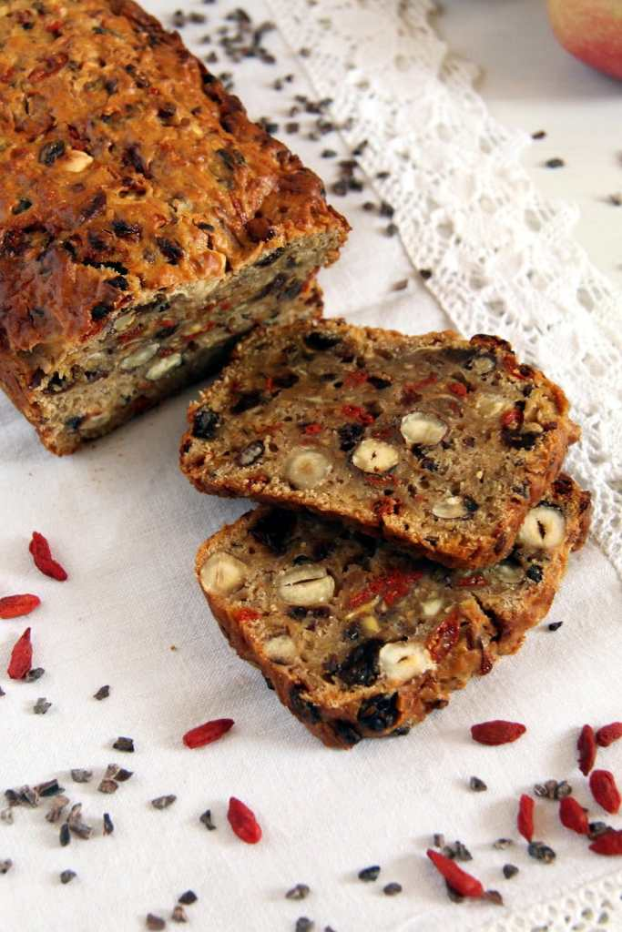 trail mix goji berries 683x1024 Trail Mix Apple Bread with Hazelnuts and Spices