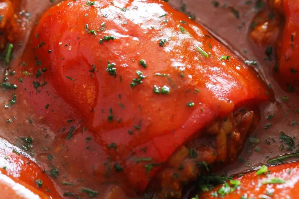 peppers stuffed beef Vegan Rice Cabbage Rolls