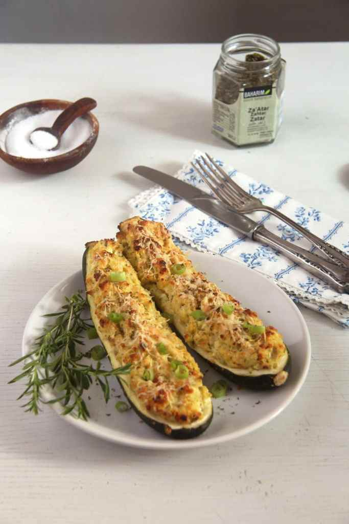 zucchini millet stuffed 683x1024 Zucchini Filled with Millet, Feta and Parmesan