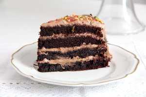 %name chocolate gateau slices