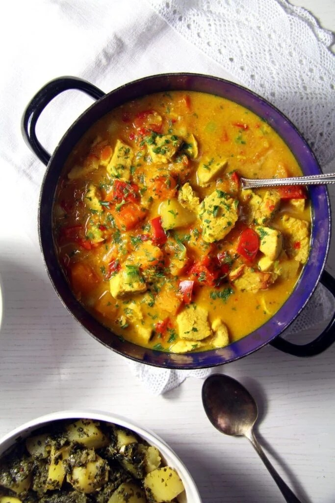 pumpkin curry turkey 683x1024 Pumpkin Turkey Curry with Coconut Milk and Turmeric