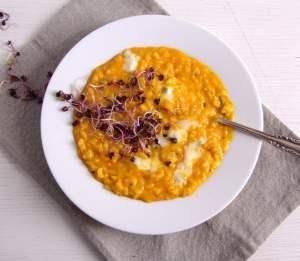 %name pumpkin risotto cheese