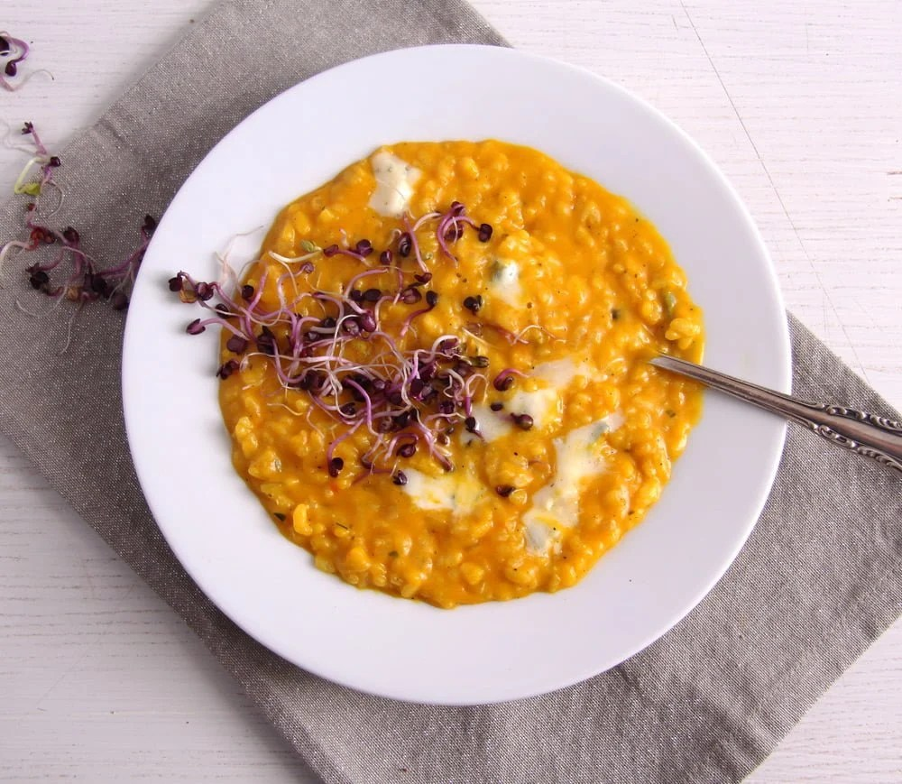 pumpkin risotto cheese Romanian Vegan Vegetable Rice or Pilaf
