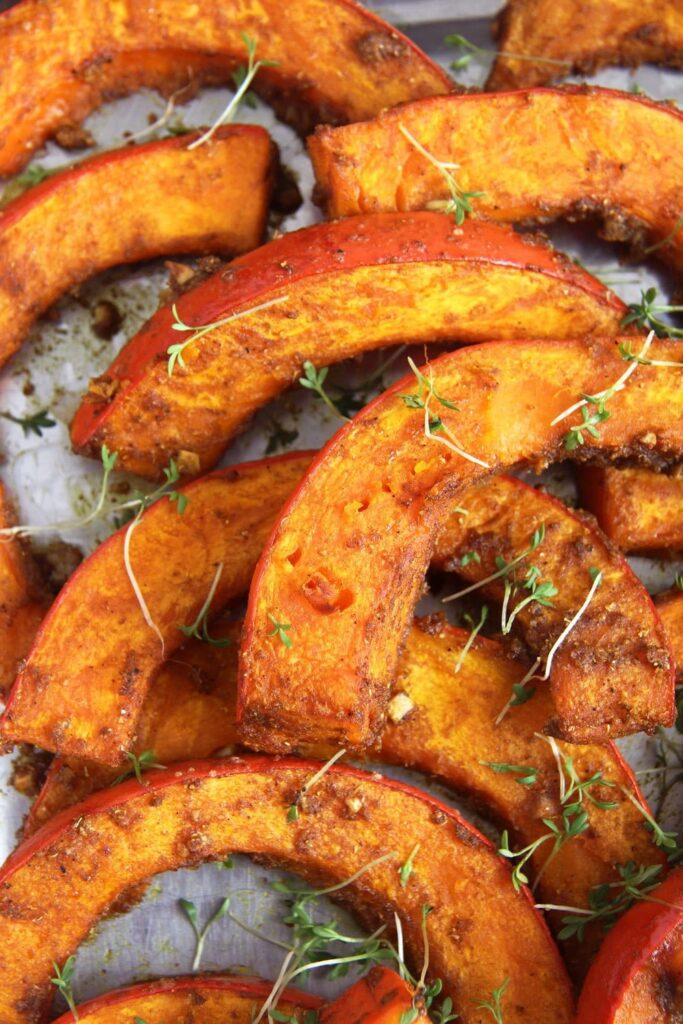 roasted pumpkin spices 683x1024 Spicy Roasted Pumpkin Wedges   Simple and Delicious