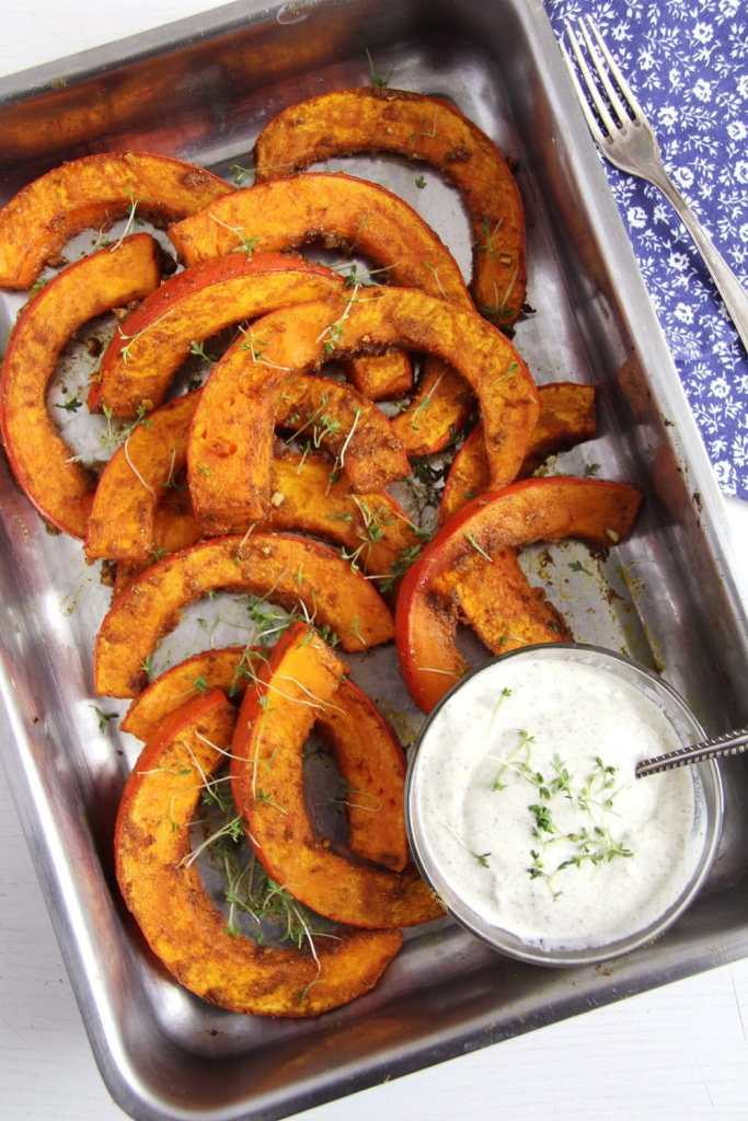 roasted pumpkin spicy 683x1024 Spicy Roasted Pumpkin Wedges   Simple and Delicious