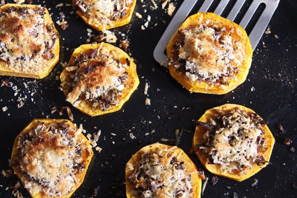 Baked Butternut Squash Parmesan Slices