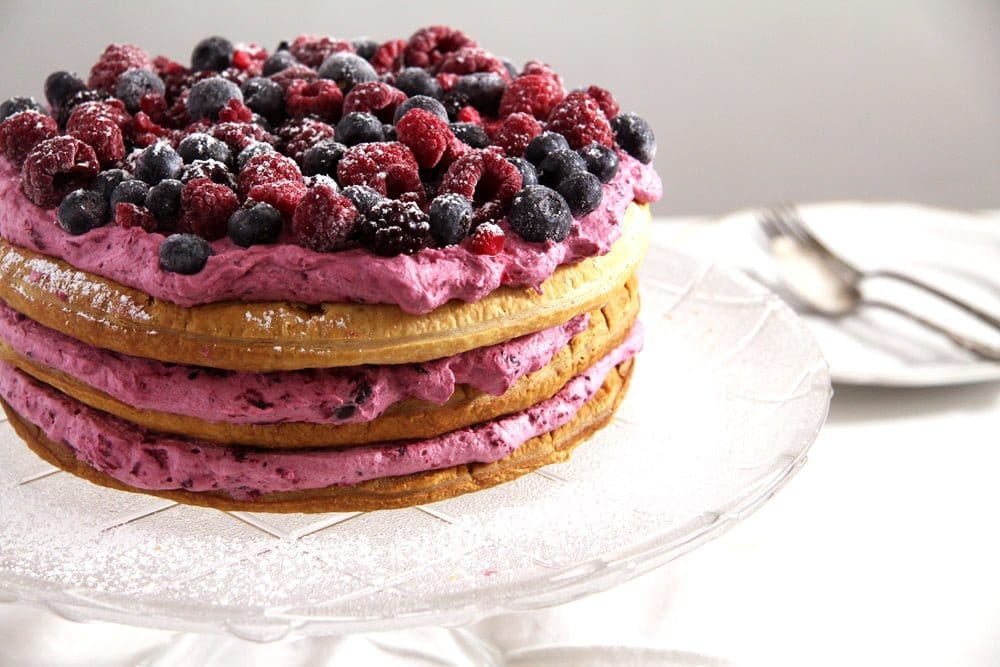 Berry Puff Pastry Cake