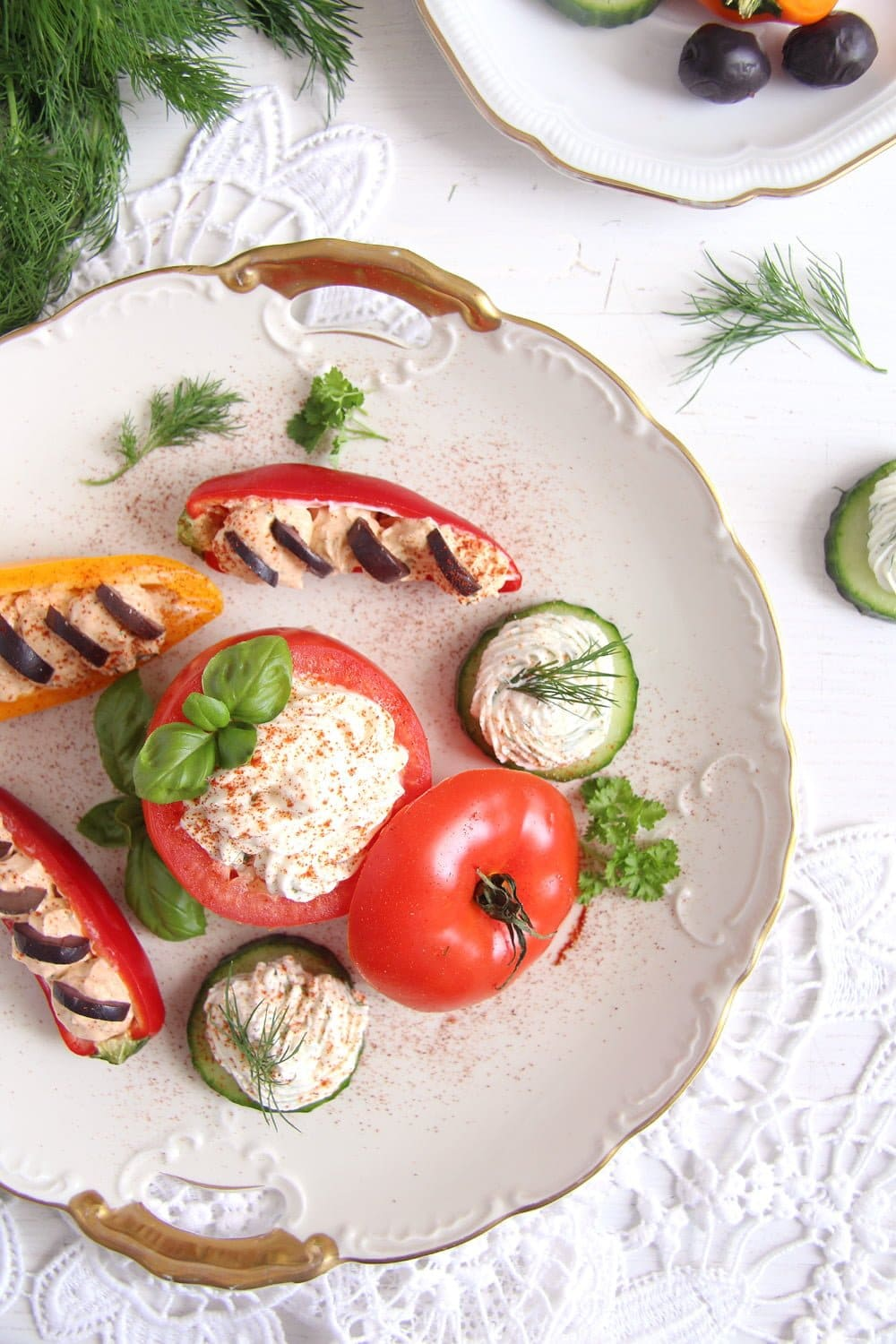 appetizers cream cheese Cream Cheese Stuffed Vegetables