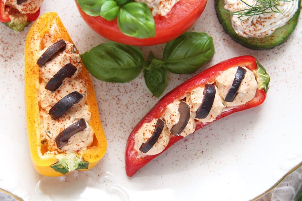 appetizers vegetable Cream Cheese Stuffed Vegetables