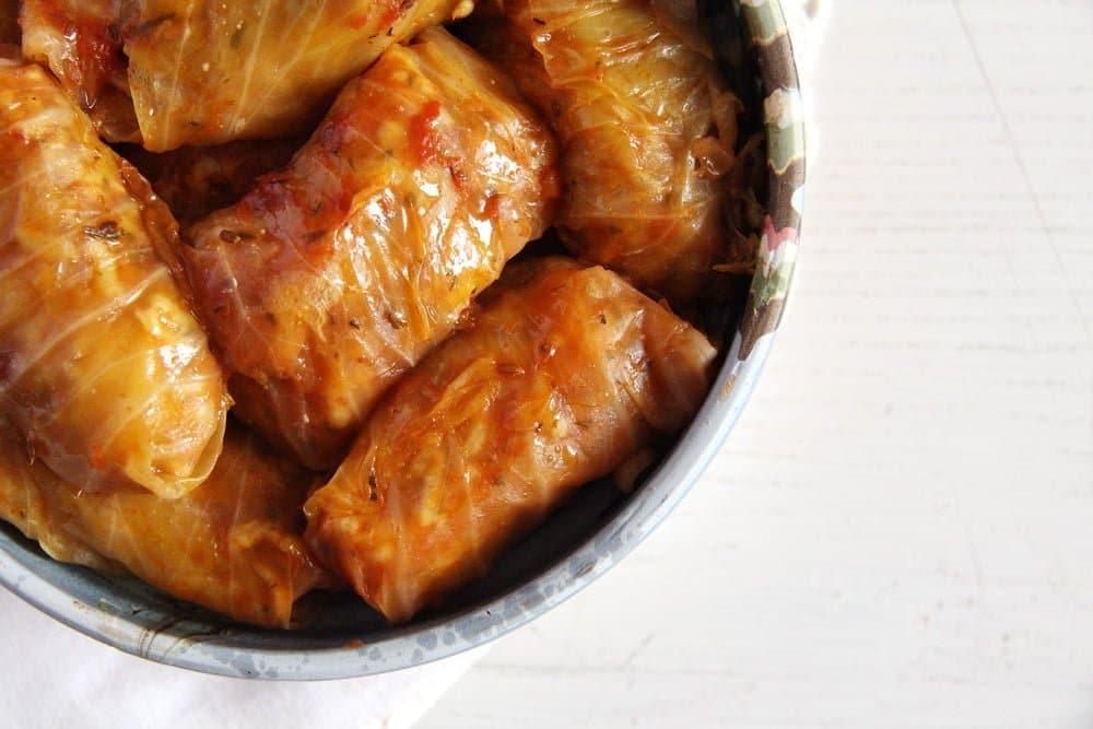 cabbage rolls romanian Vegan Rice Cabbage Rolls