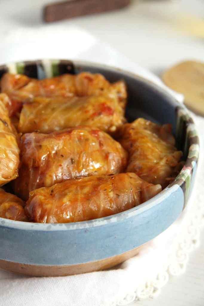 cabbage rolls vegetarian 683x1024 Vegan Rice Cabbage Rolls with Sauerkraut