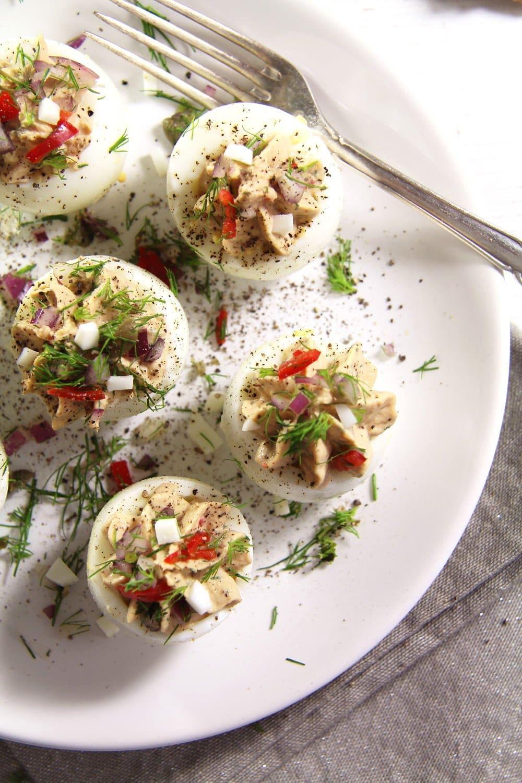 deviled eggs tuna chili Deviled Eggs with Tuna