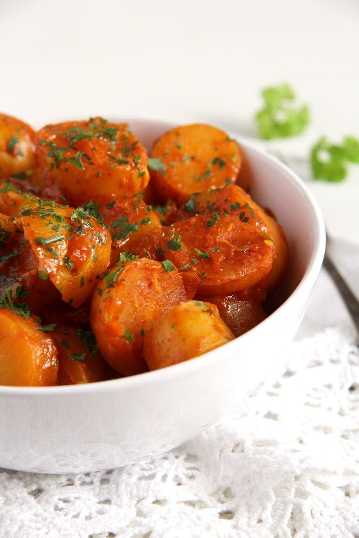 new potatoes stew New Potatoes in Tomato Sauce