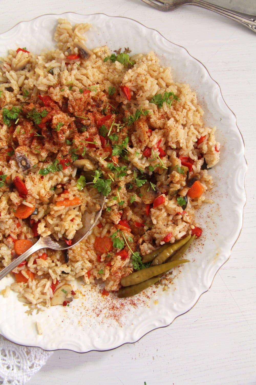 rice vegetables romanian Romanian Vegetable Rice