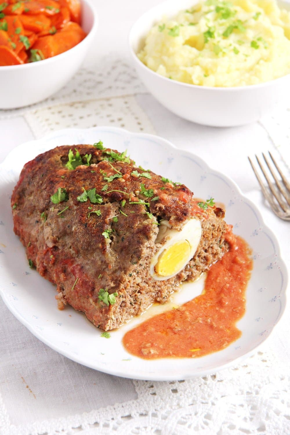 meatloaf eggs Easy Meatloaf with Eggs