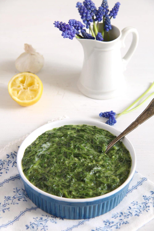 spinach bechamel sauce Spinach in Béchamel Sauce
