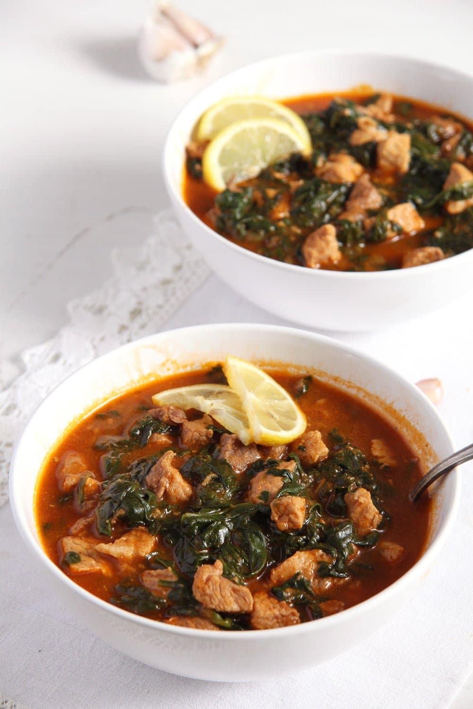 spinach stew romanian Spinach and Pork Stew