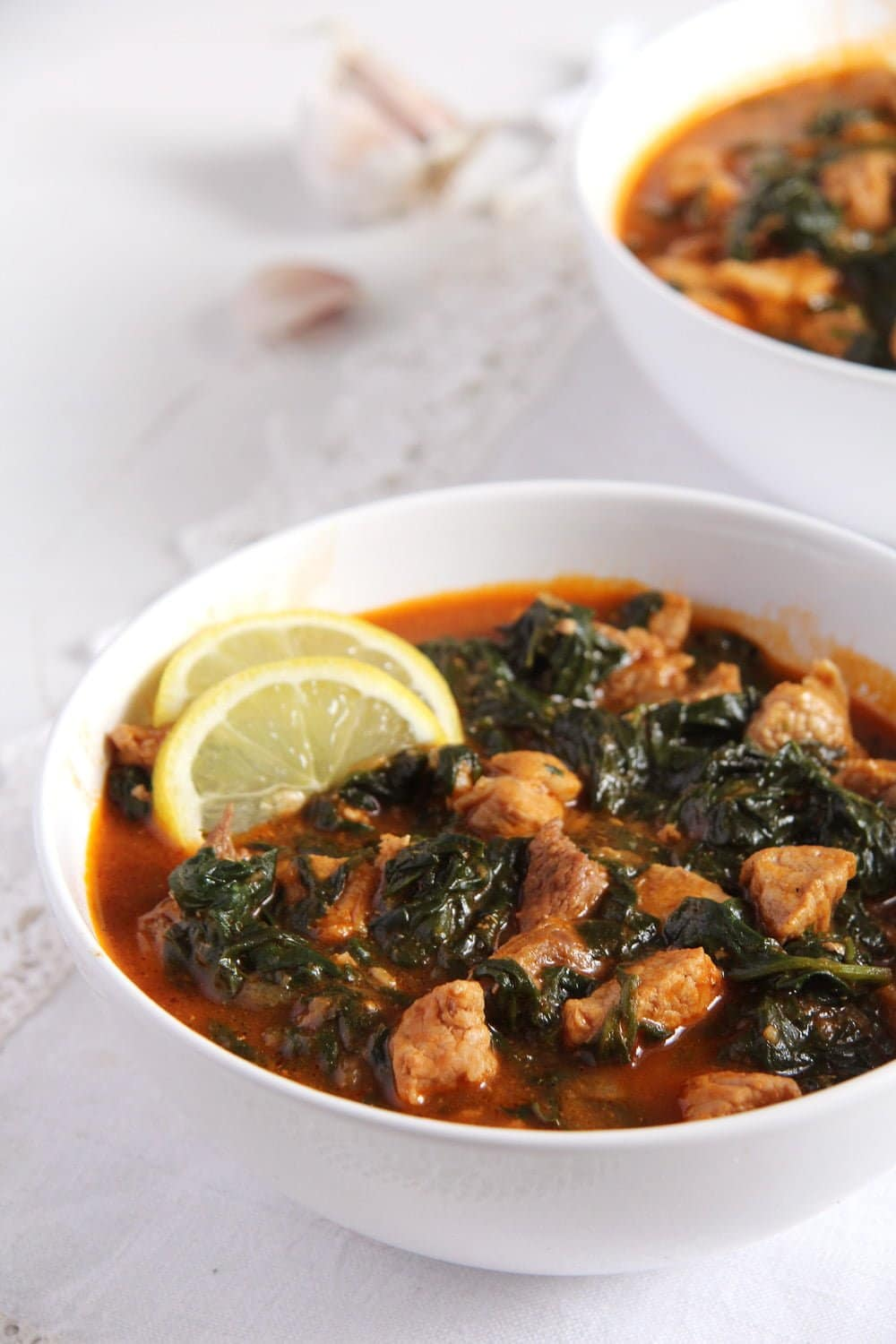 spinach stew tomatoes Spinach and Pork Stew