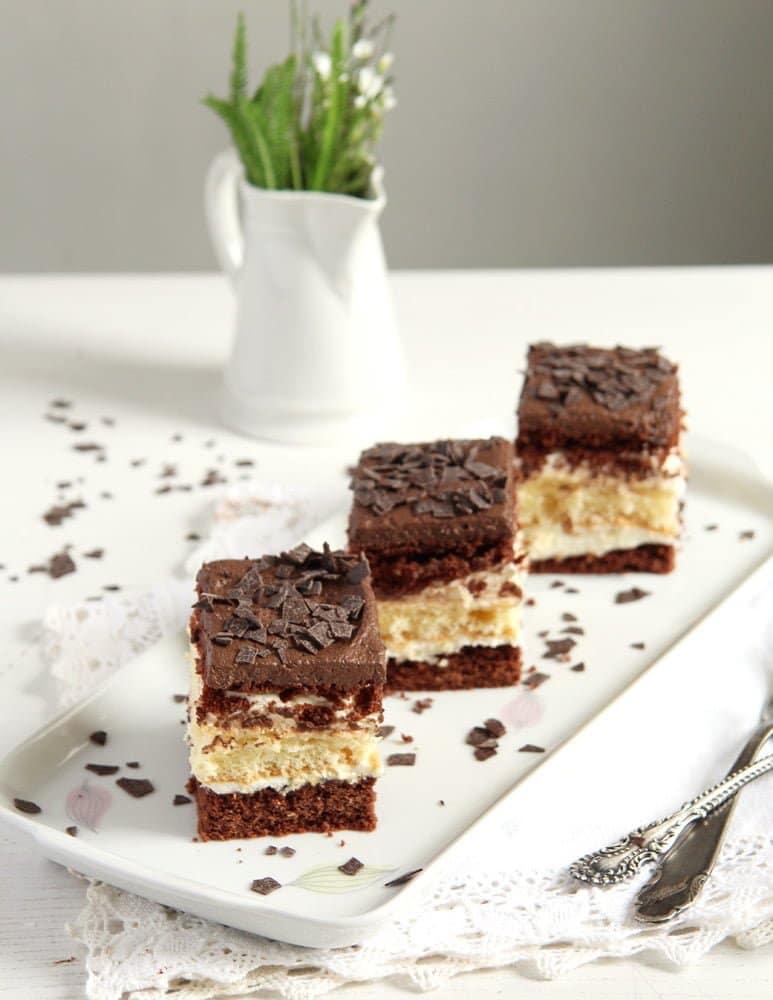 layer cake romanian Vanilla Chocolate Layer Cake with Ganache   Prajitura Televizor