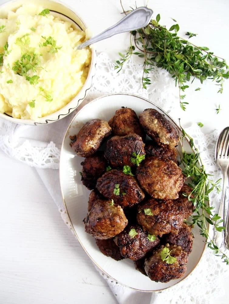moldavian meatballs beef Moldavian Pork and Beef Meatballs with Herbs – Parjoale