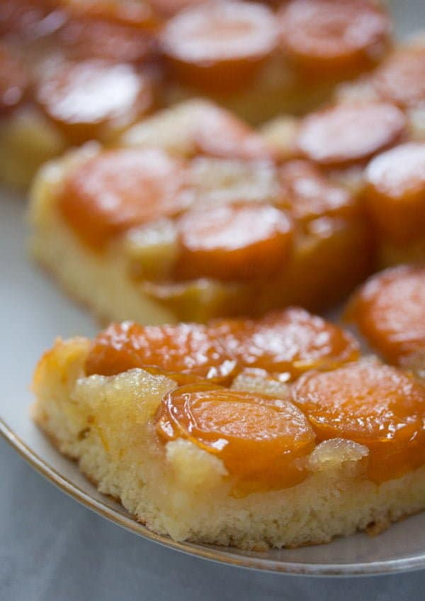 Upside Down Apricot Cake with Fresh Apricots
