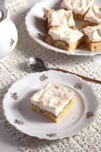 %name Rhubarb Meringue Cake