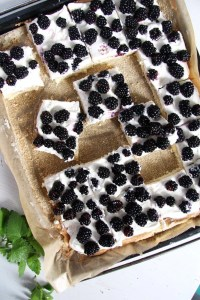 %name Easy Fresh Blackberry Cake with Whipping Cream