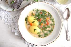 %name Fish Soup with Potatoes and Garlic Sauce