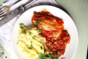 %name Easy Skillet White Fish Fillet in Tomato Sauce