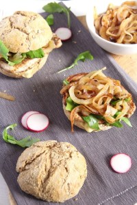 %name Gypsy Pork Chop Burgers with Mustard and Onions