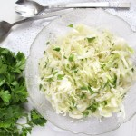 bowl with white cabbage