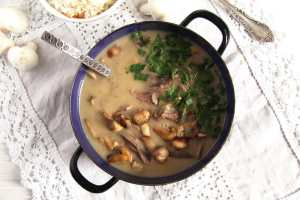 %name Quick Fricassee with Leftover Turkey and Mushrooms