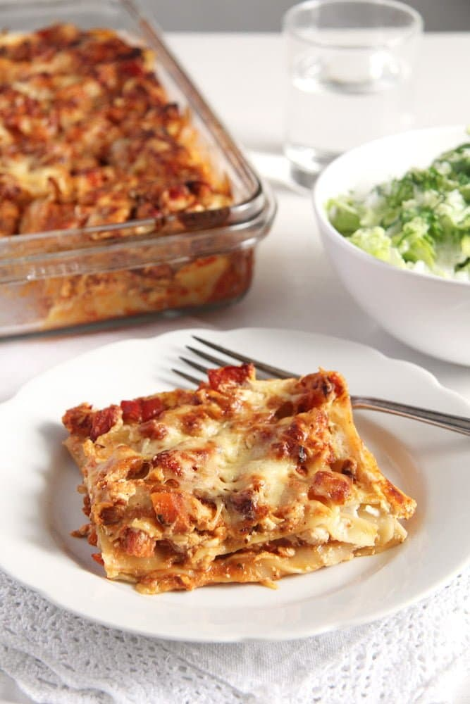 turkey lasagna cottage chee Light and Healthy Turkey and Cream Cheese Lasagna