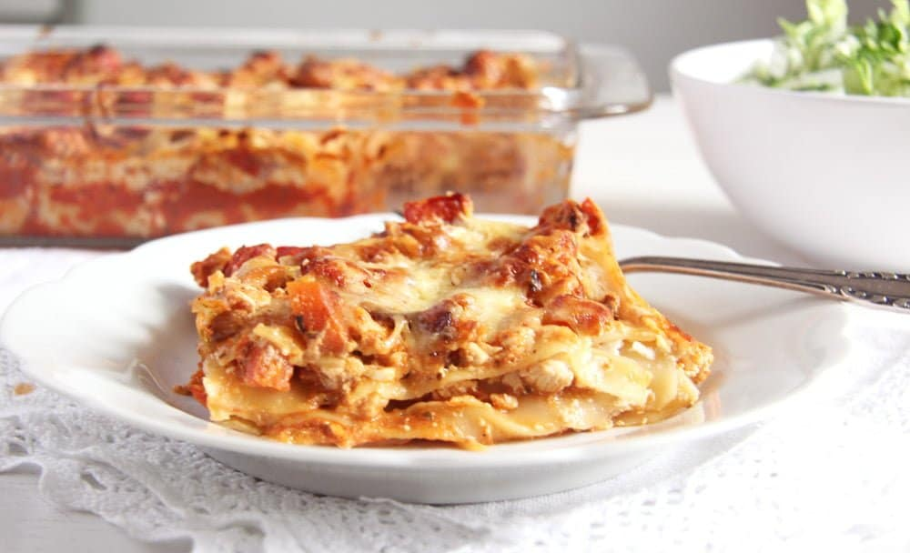 turkey lasagna cream cheese Light and Healthy Turkey and Cream Cheese Lasagna