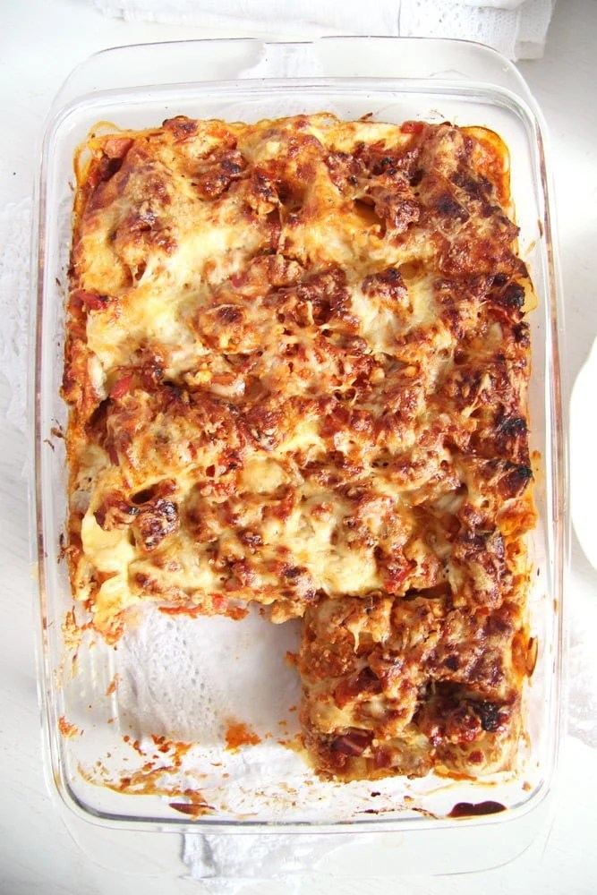 Light and Healthy Turkey and Cream Cheese Lasagna
