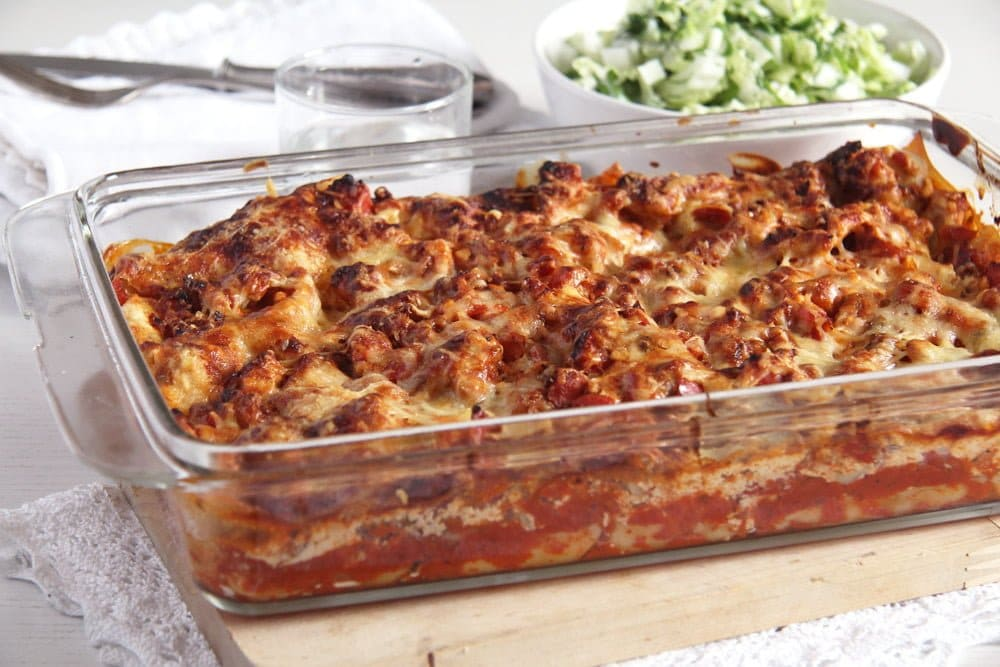 Low Fat Lasagna With Turkey, Cream Cheese And Cottage Cheese
