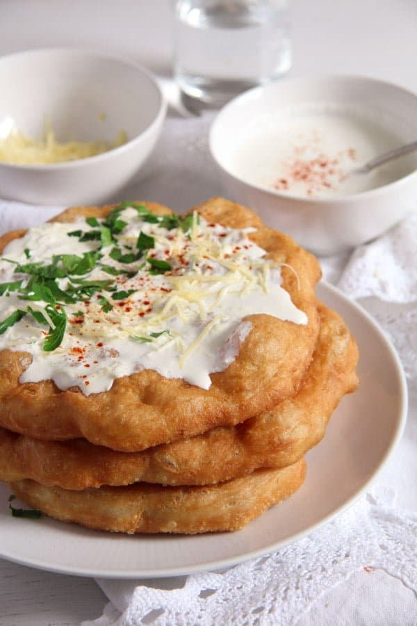 Hungarian Langos 2 Hungarian Fried Bread – Quick Homemade Langos