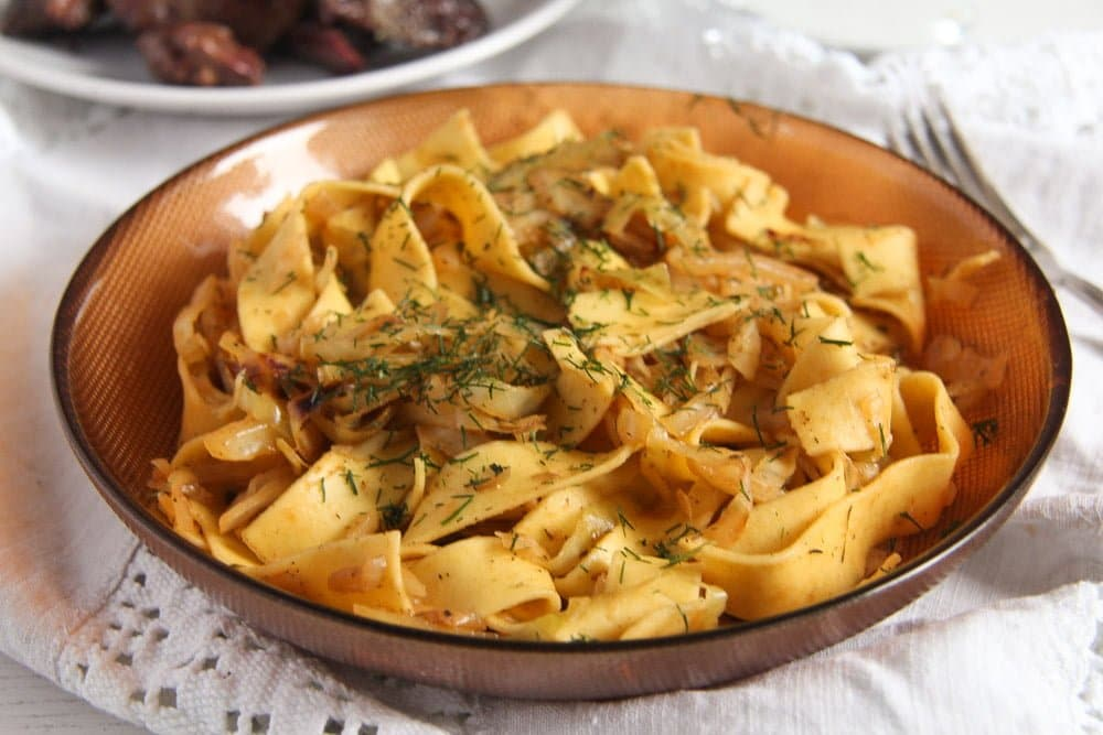 noodles cabbage ed 5 Easy Cabbage Noodles with Sour Cream and Dill