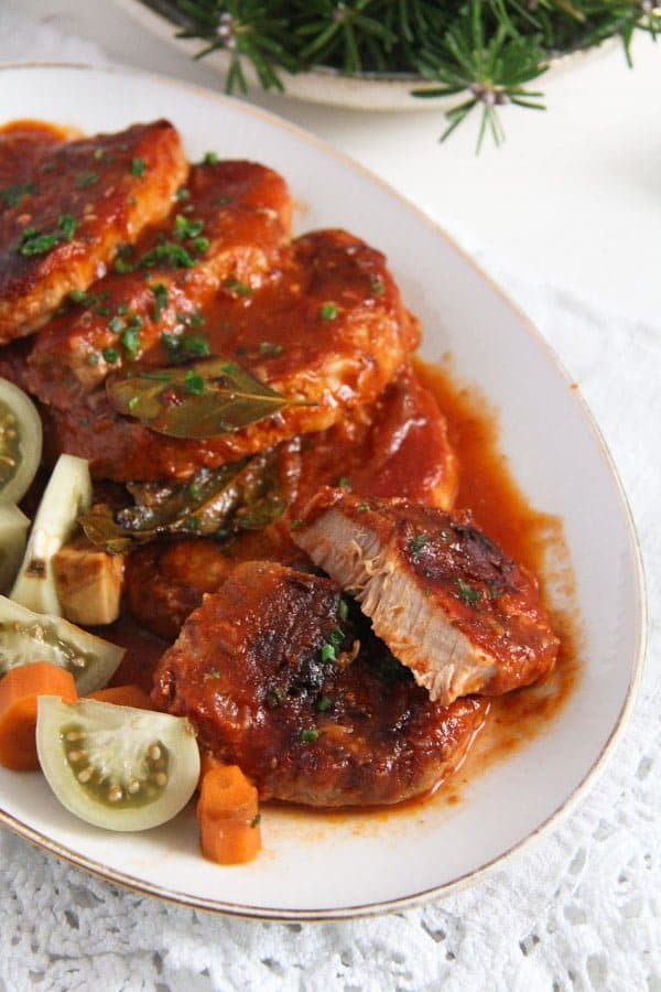 pork roast ed 5 Easy Roasted Pork in Garlic, Tomato and Paprika Sauce