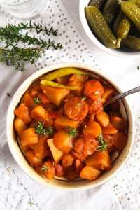 %name Easy Potato Stew with Cabanossi Sausages and Vegetables