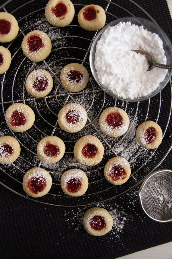 thumbprint cookies ed 4 Easy Five Ingredient Thumbprint Cookies with Jam